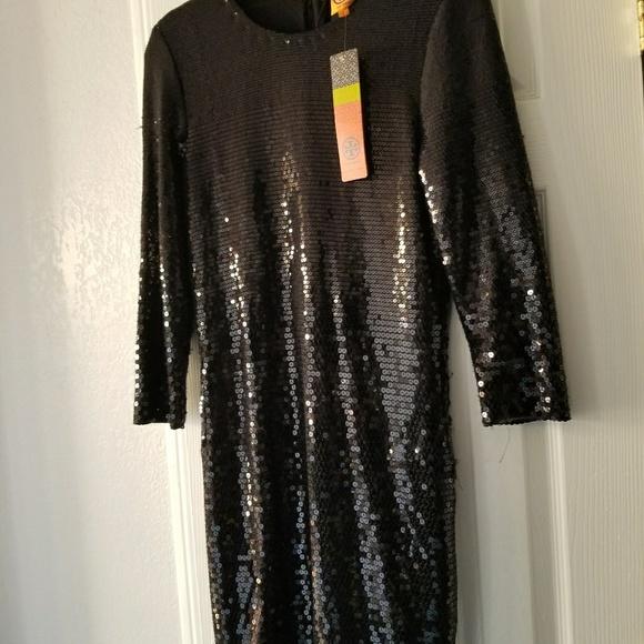 2f5e81d4b06e Tory Burch Dresses | Nwt Black Sequin Dress | Poshmark